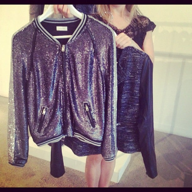 Sequin bomber jackets, we die! They'll be prettying up the shelves of Witchery from Feb.