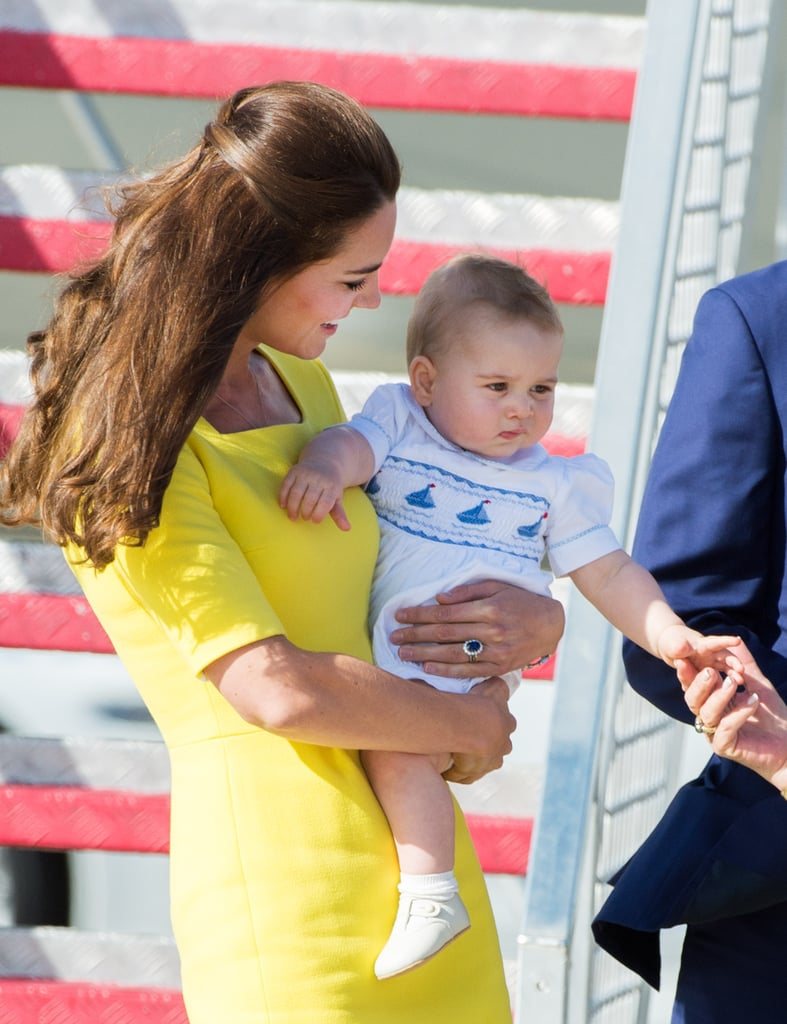 George's arrival in Australia on April 16.