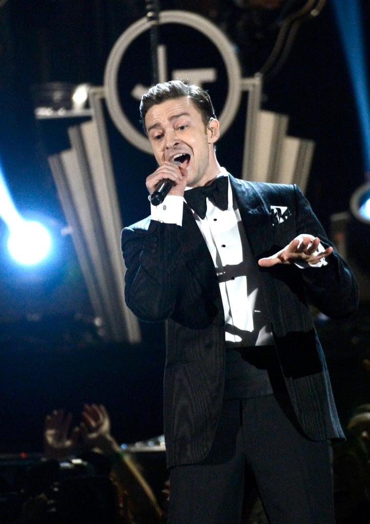 Justin Timberlake performed at the Grammys.