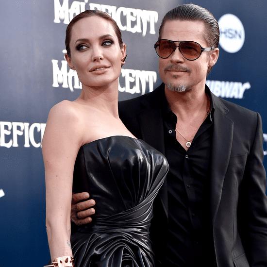 Angelina Jolie and Brad Pitt at the Maleficent LA Premiere