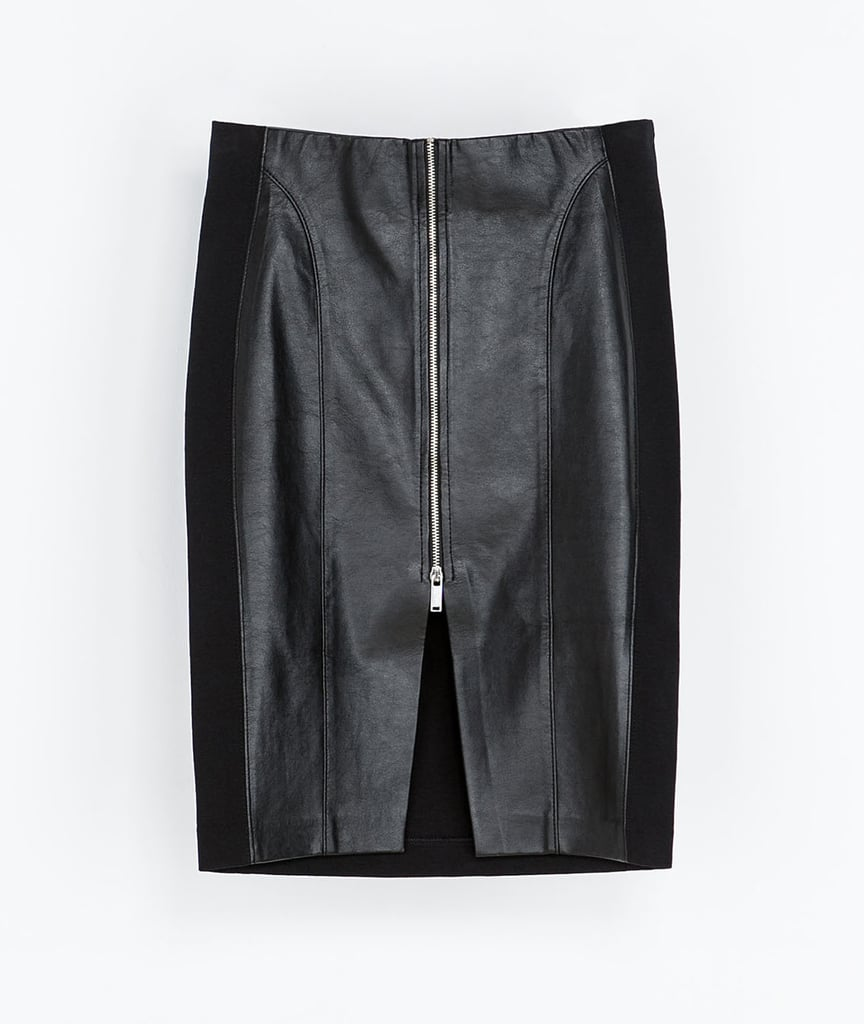 The classic pencil skirt is even sexier thanks to the front zip on this Zara find ($40).