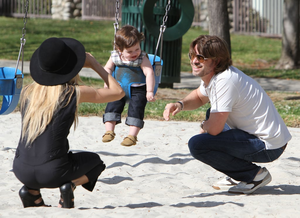 Rodger Berman showed his love for son Skyler when he posed for a pic with the tiny tot at an LA park in March 2012.