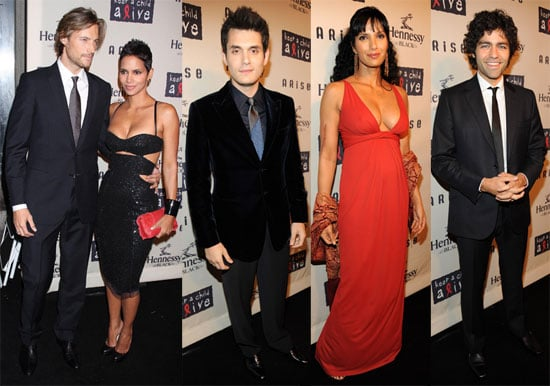 Images of Adrian Grenier, Alicia Keys, John Mayer, Padma Lakshmi, Halle Berry, Gabriel Aubry at Keep a Child Alive's Ball