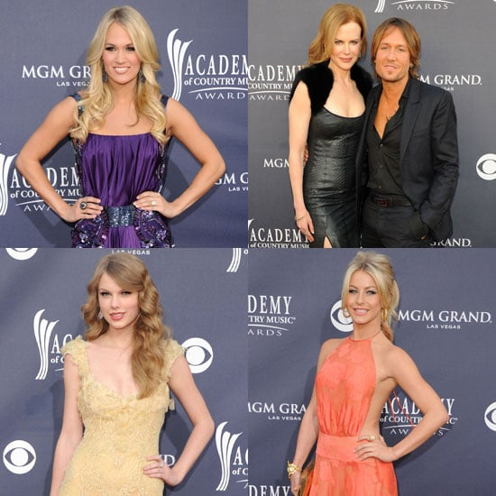 Pictures of Taylor Swift, Carrie Underwood, Nicole Kidman, and Keith Urban Arriving at the Academy of Country Music Awards