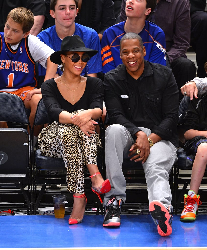 Jay-Z and Beyoncé Knowles were court side for a Knicks game.