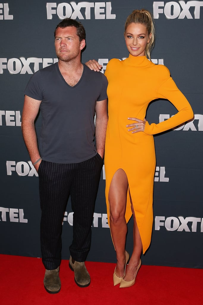 Sam Worthington and Jennifer Hawkins