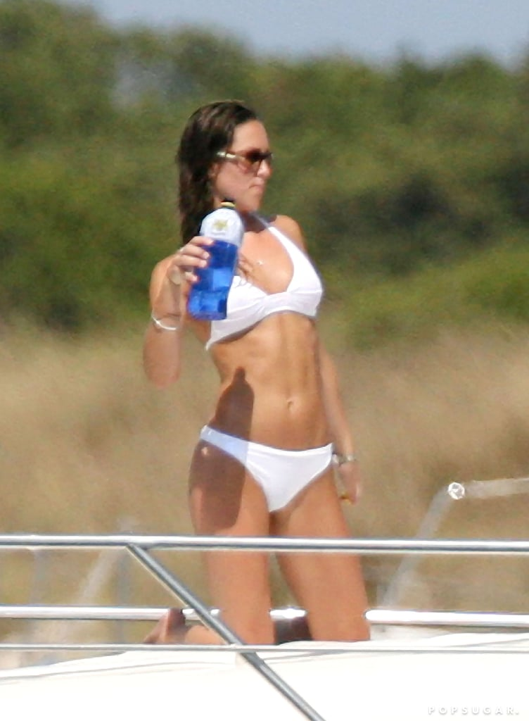 Kate Middleton wore a white bikini during a September 2006 trip to Ibiza with her family and Prince William.