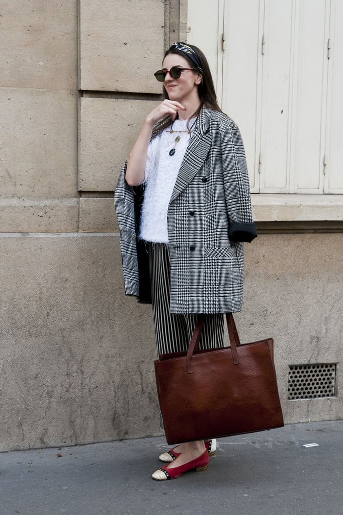 Mixing up stripes and plaid — and a little texture.