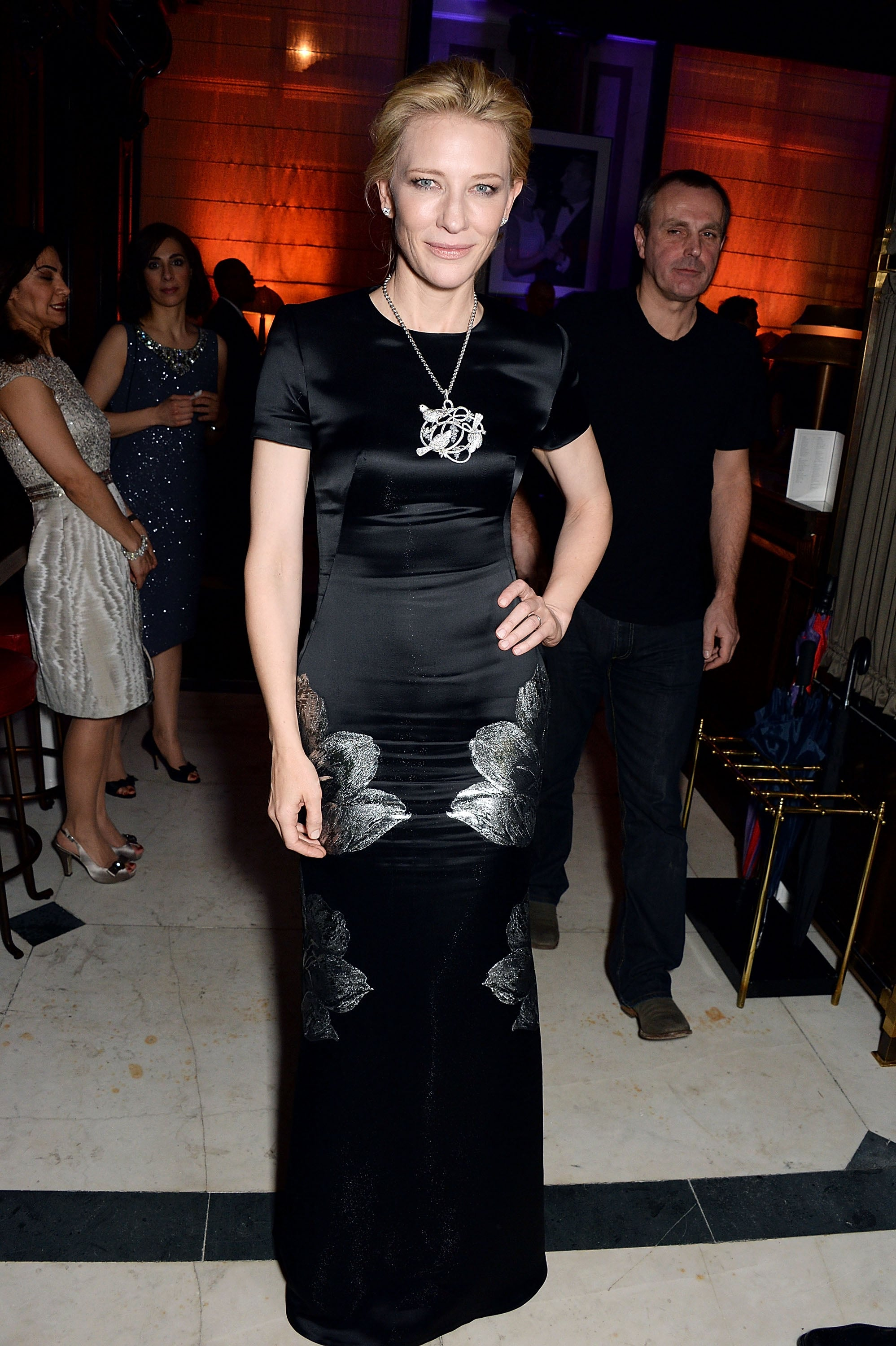 Cate Blanchett made an appearance at Harvey's party.