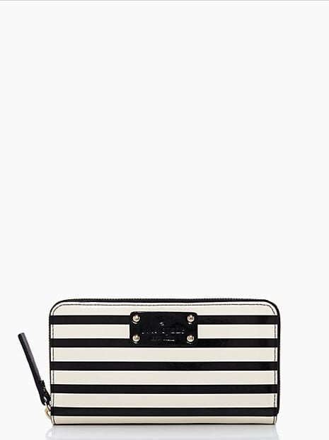 Been craving a new wallet? We love the simple but preppy look of this striped all-around zip pick ($79, originally $178).