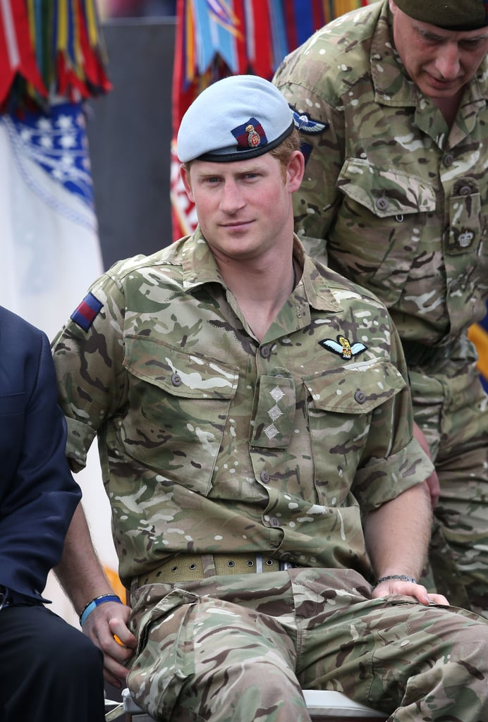 Prince Harry attended the torch-lighting ceremony.