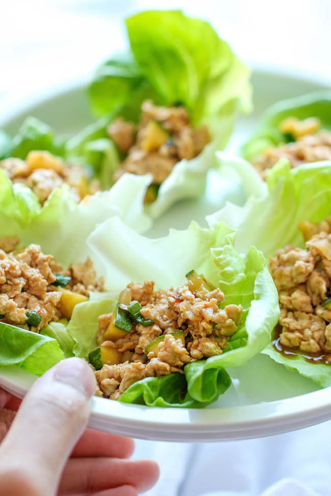 how to make chicken wraps with lettuce