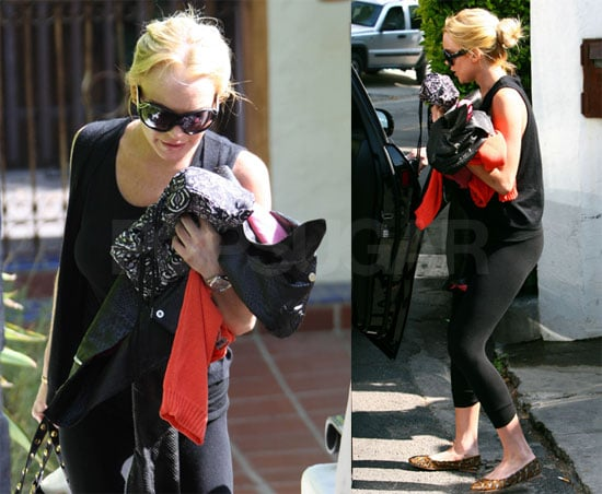 Photos of Lindsay Lohan Walking Out of Samantha Ronson's House in LA