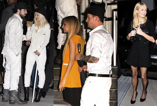 Photos of Christina Aguilera, Max Bratman, Nicole Richie, Joel Madden, Paris Hilton at Christina Aguilera's Birthday Party