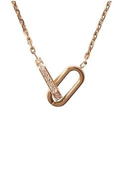 Michael Kors Mix Materials Interlocking Pendant Necklace | Piperlime