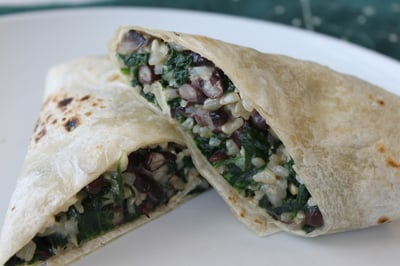 Fast & Healthy Bean and Cheese Burritos