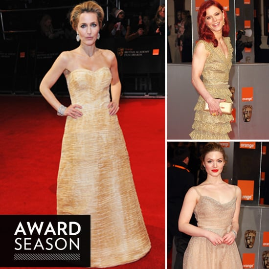 Gold Dress Trend at the 2012 BAFTA Awards