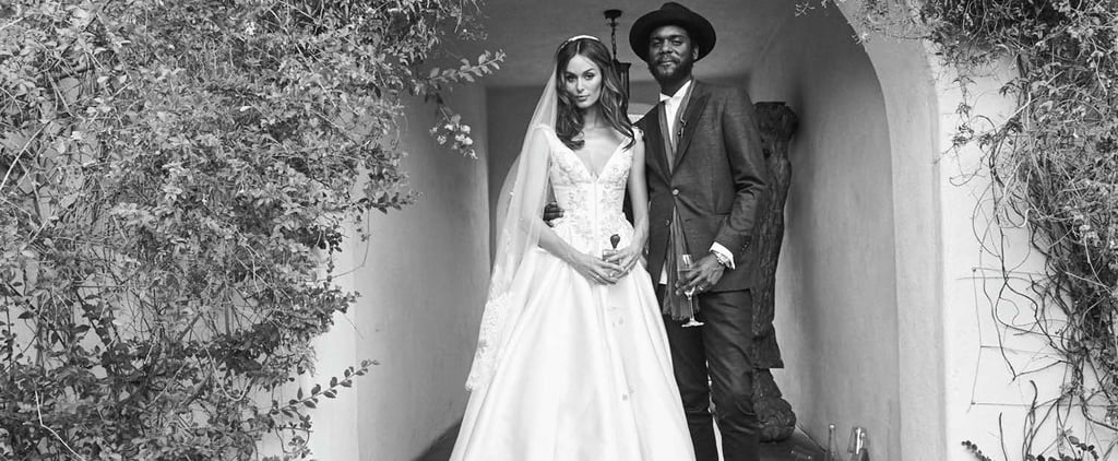This Supermodel Had a Wedding in the Desert —in a Princess Ballgown