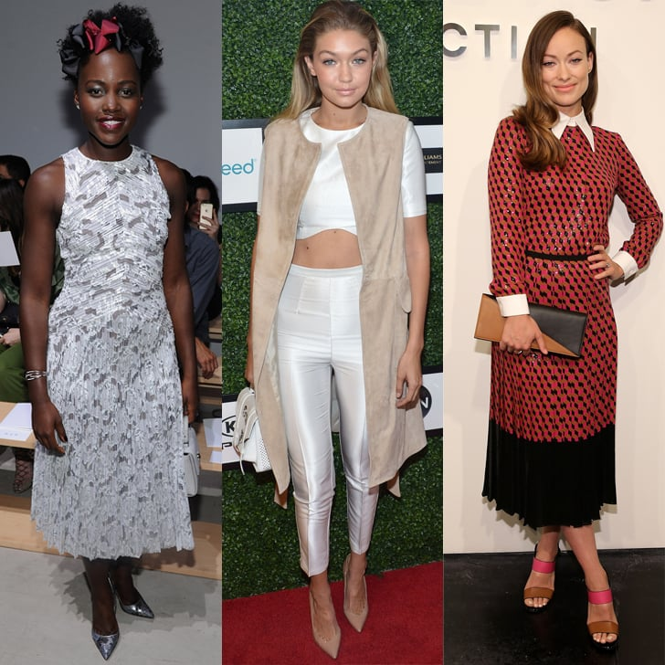 Celebrities Front Row At New York Fashion Week Spring 2016 Popsugar Fashion