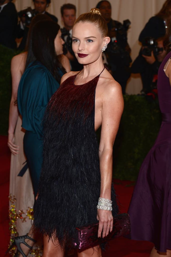 Kate Bosworth went bold with a dark lip shade.