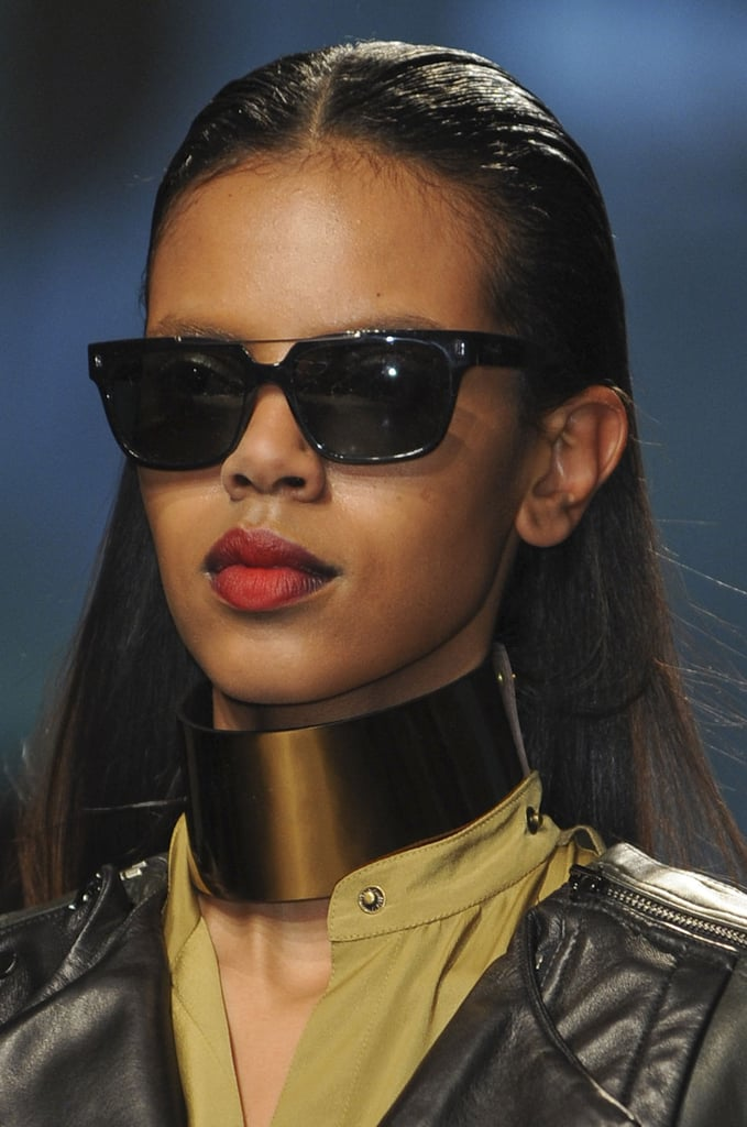 """""""The inspiration is the urban woman who has an attitude of the future,"""" Didier Malige, lead stylist for Jonathan Product, said. """"They have almost mannish hair."""""""