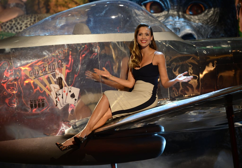 Jessica Alba came on stage at the Guys Choice Awards.