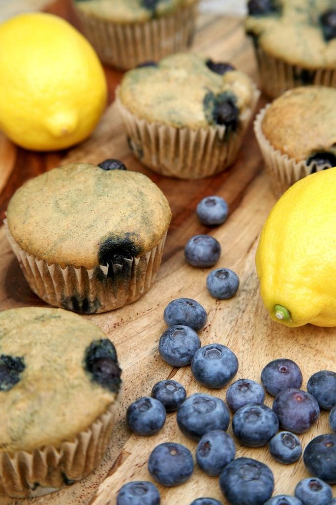 Lemon Blueberry Protein Muffins