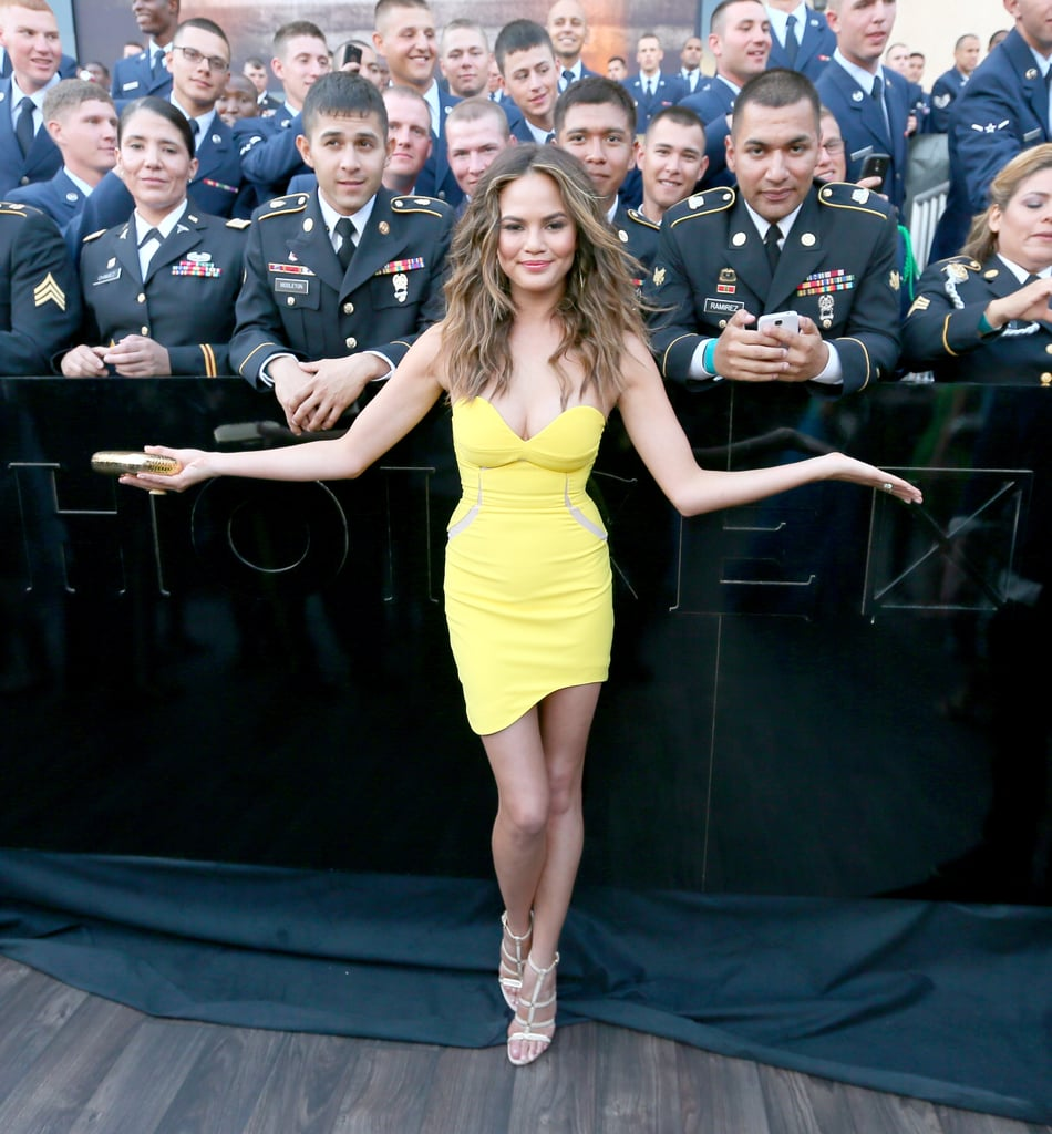 Chrissy Teigen was the center of attention before the show started.