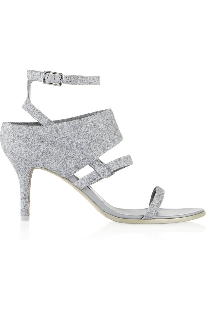 Alexander Wang Gray Felt Adina Sandals