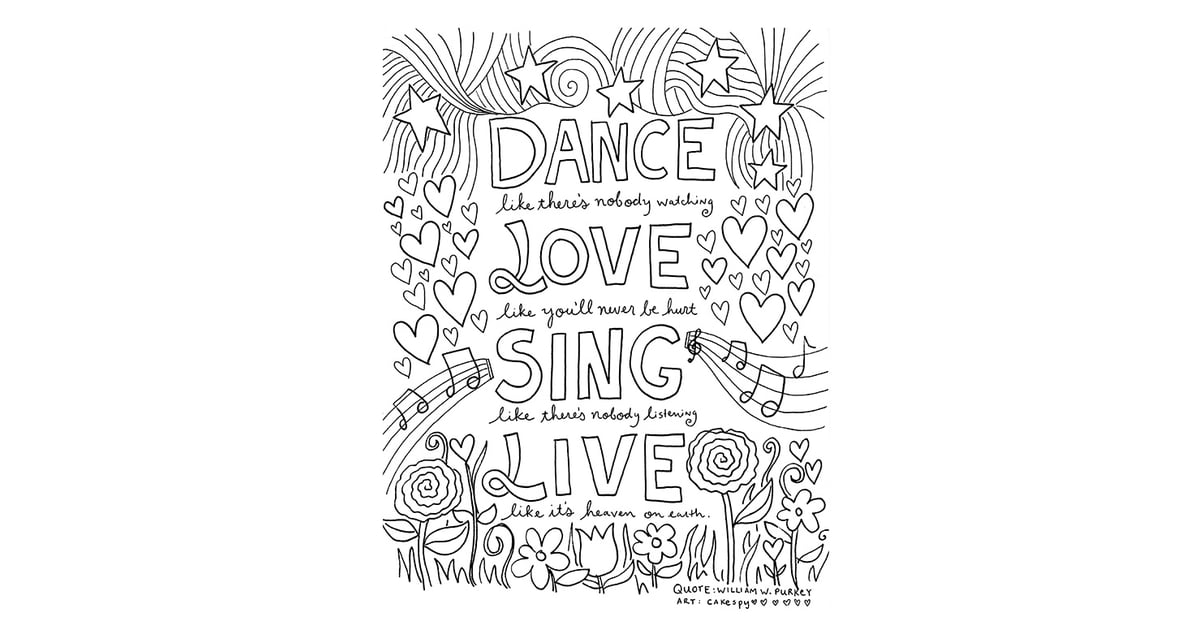 Get the coloring page dance love sing live 50 printable for I love dance coloring pages