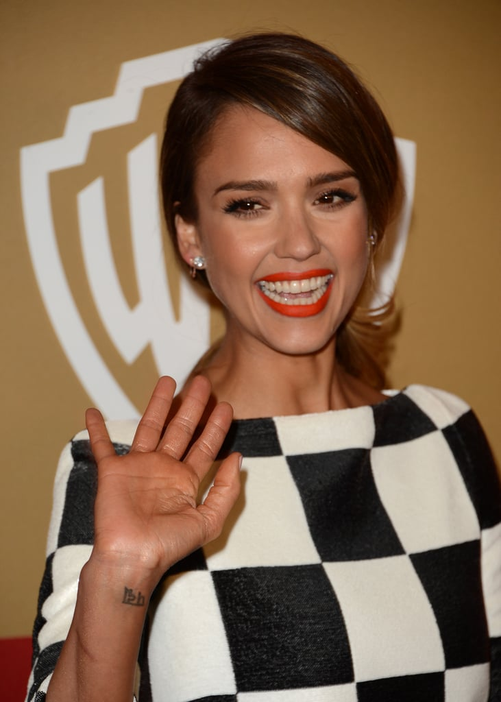 Jessica Alba made a wardrobe change after the show.