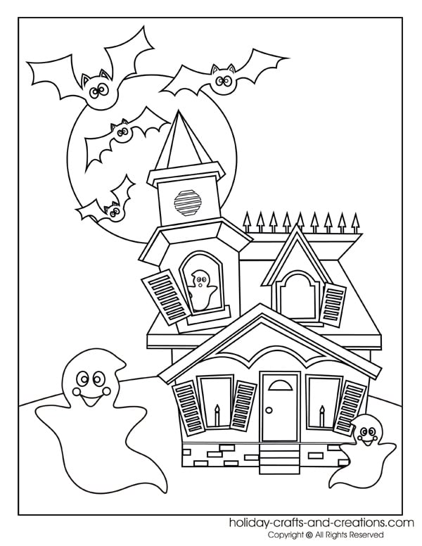 halloween coloring pages games - free halloween printable decor and activities for kids