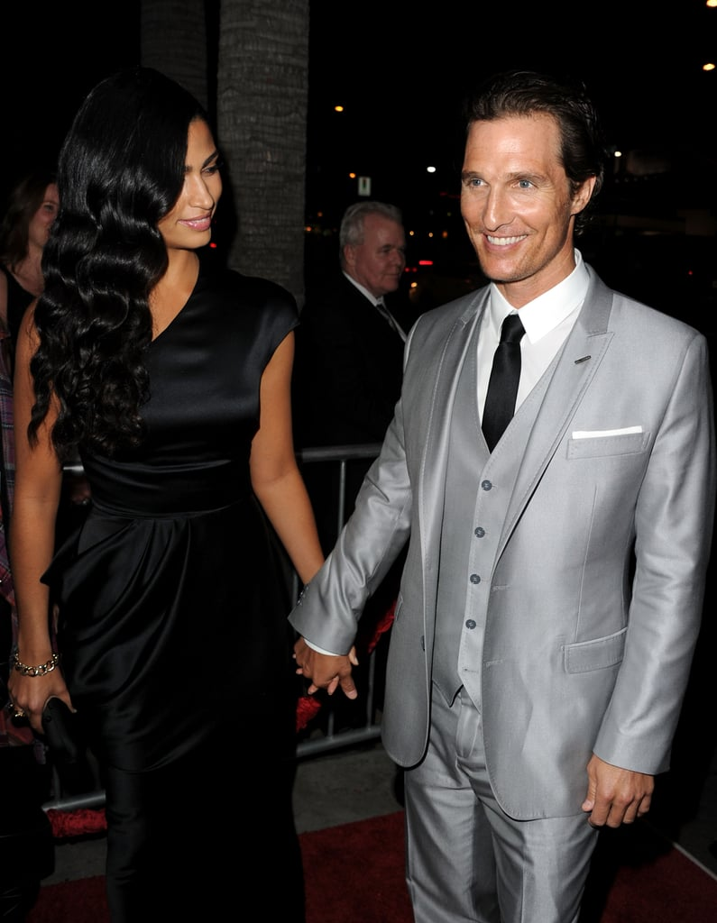Camila Alves and Matthew McConaughey stuck together at the March 2011 premiere of The Lincoln Lawyer in LA.