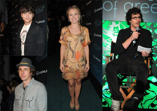 Andy Samberg Goes Green With Kristen Bell, Ashton Kutcher, and More Celebs in LA
