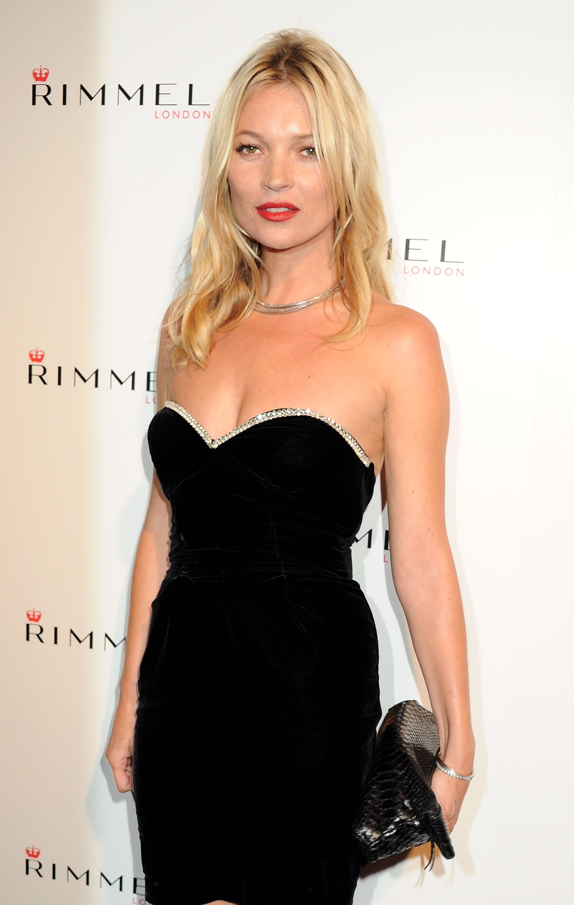 Kate Moss at a Rimmel London party.