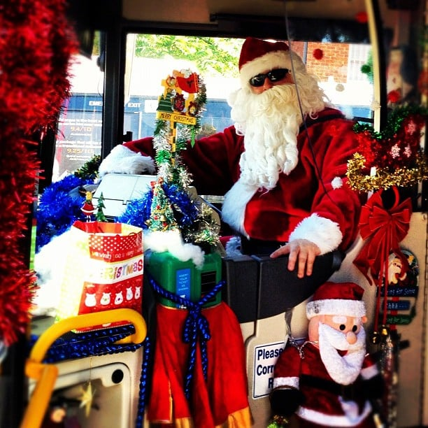 'Tis the season to be jolly! This awesome bus driver made our ride to work 100 times better than usual.