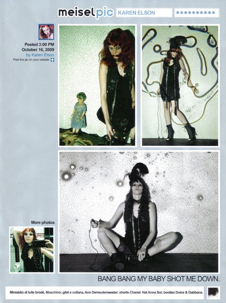 "Full Look: Steven Meisel Spoofs Twitter for Vogue Italia December 2009 with ""Meiselpic"""