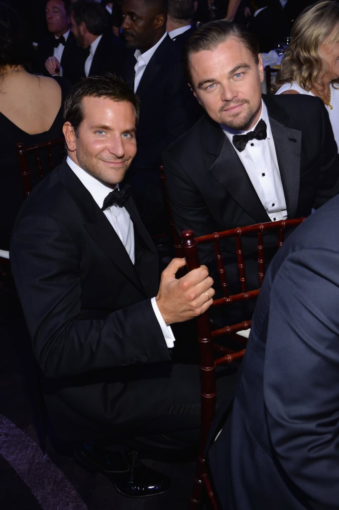 Bradley Cooper got down on Leo's level inside the show.  Source: Larry Busacca/NBC/NBCU Photo Bank/NBC