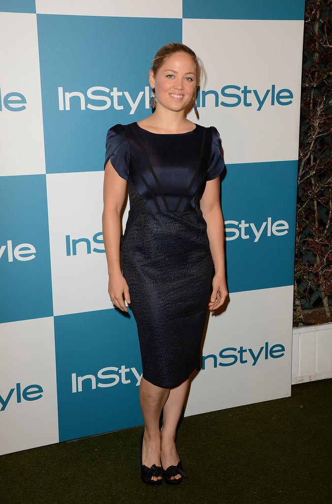 Erika Christensen walked the carpet at InStyle's Summer party in LA.