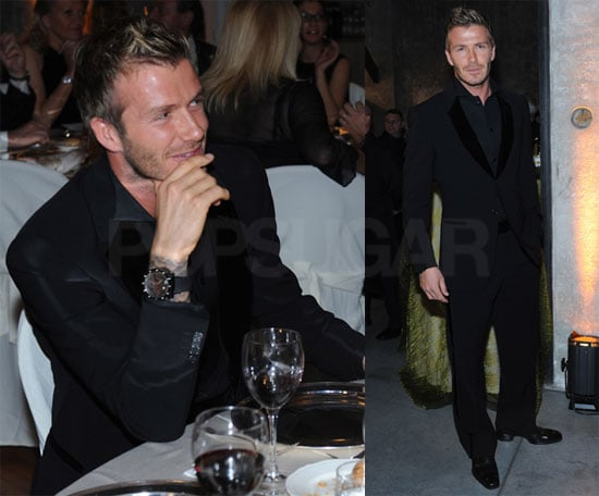 Photos of David Beckham at Cancer Benefit Dinner