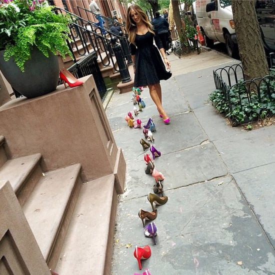 Sarah Jessica Parker Sex and the City Stoop Photo Shoot