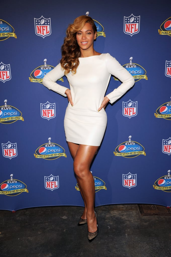 Who can forget the little white Olcay Gulsen dress Beyoncé wore to the Super Bowl halftime-show press conference in New Orleans? It fit her like a glove.