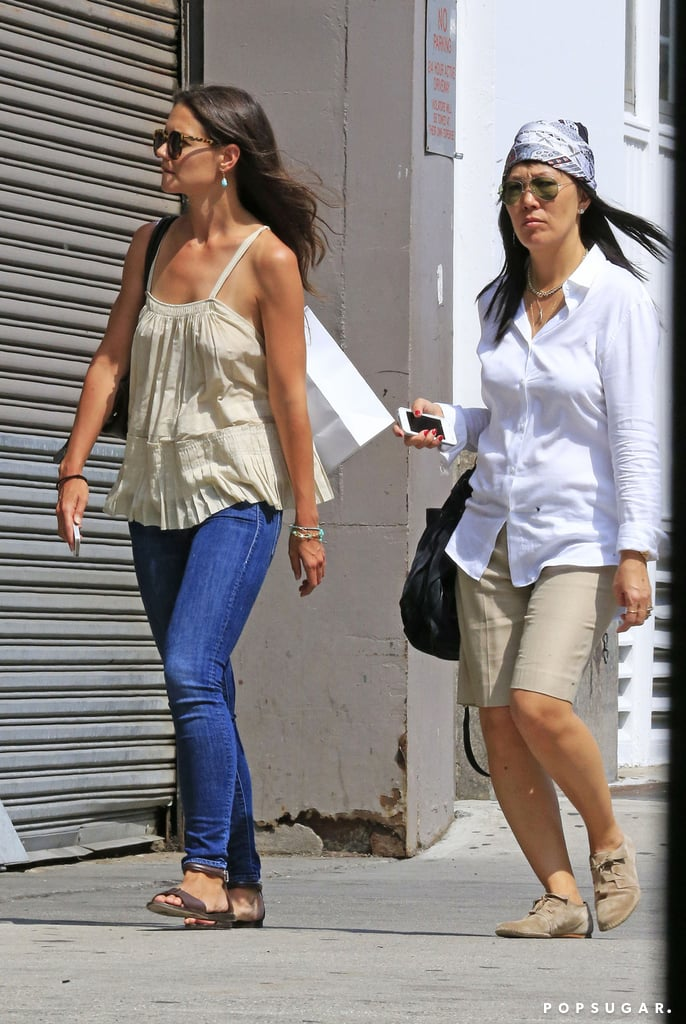 Katie Holmes shopped with her stylist, Jeanne Yang, in NYC.