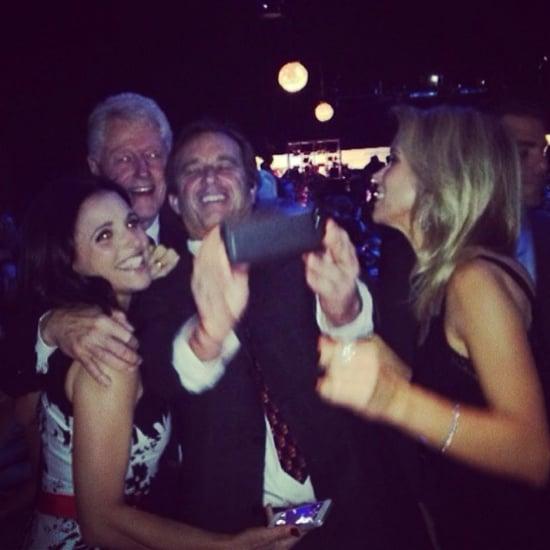 Julia Louis-Dreyfus Takes Selfie With Bill Clinton