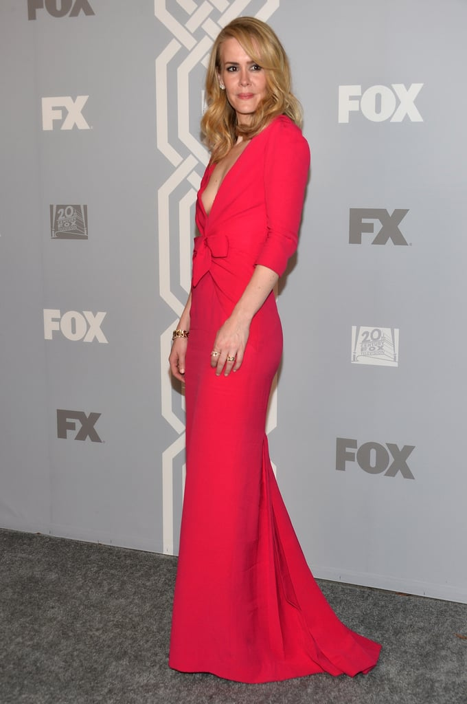 Sarah Paulson walked the carpet at the Fox/FX afterparty.