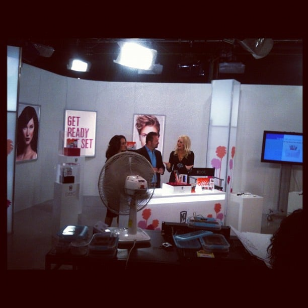 Napoleon Perdis filming on TVSN.