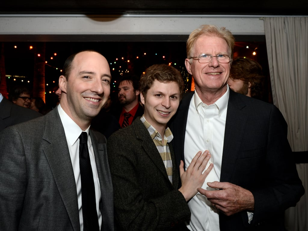 Tony Hale, Michael Cera, and Ed Begley Jr. laughed at the afterparty.