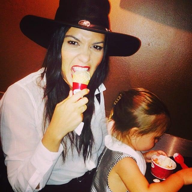 Kourtney got ice cream with her daughter, Penelope.  Source: Instagram user kourtneykardash
