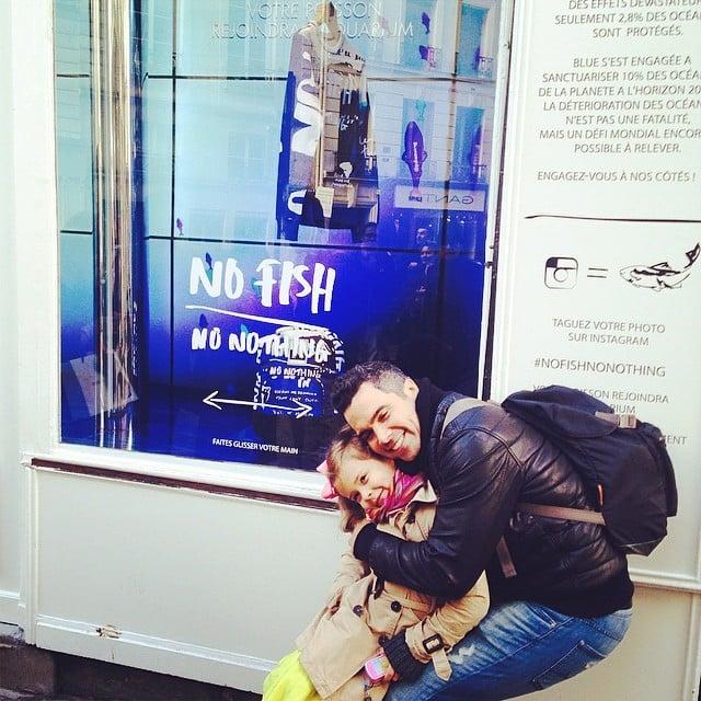 Cash Warren enjoyed Spring break in Paris with his elder daughter, Honor. Source: Instagram user jessicaalba