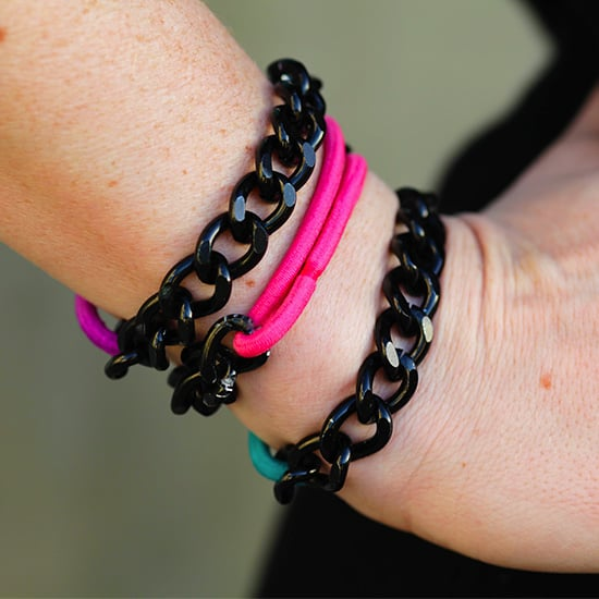 DIY Bracelets With Chain and Hair Ties!
